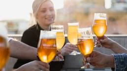 Valley Hops Brewing Beers at Sunset