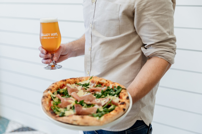 Valley Hops Brewing Pizza